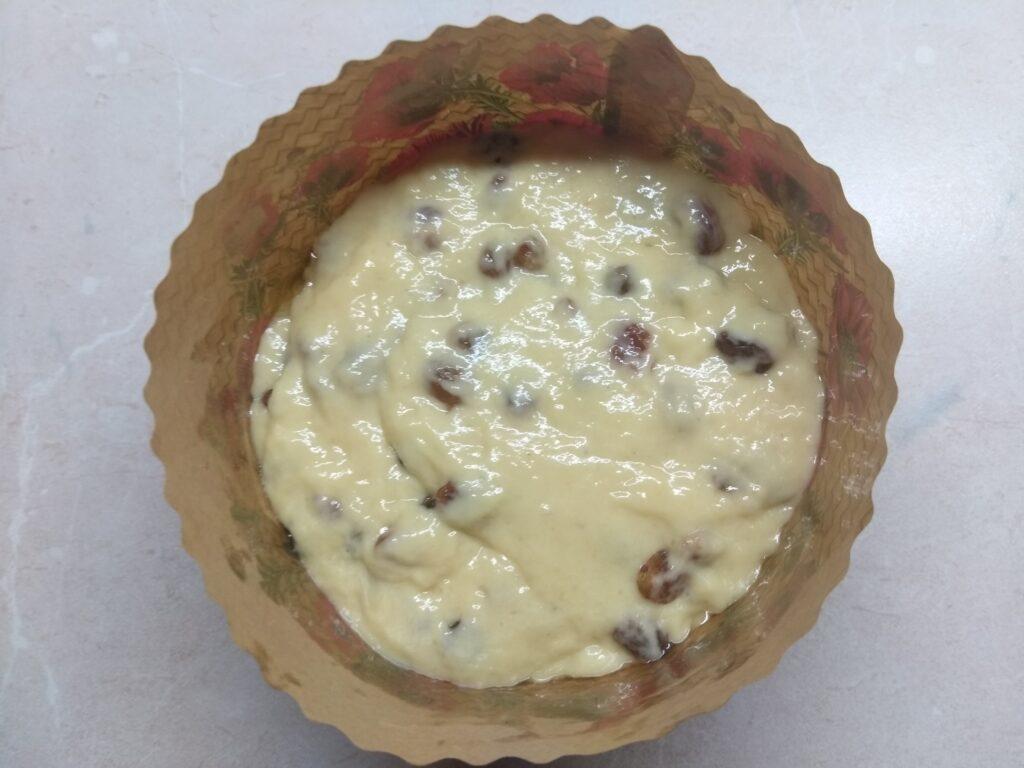Фото рецепта - Пасхальный кулич без опары с изюмом - шаг 7
