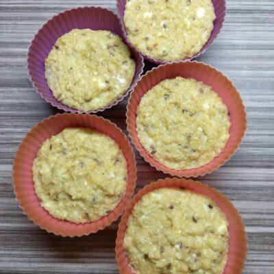 Творожные кексы на овсянке с бананом - рецепт с фото