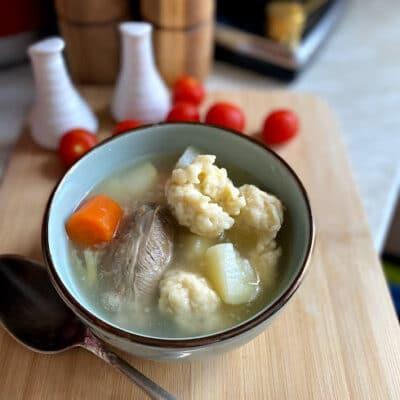 Суп с клёцками и овощами - рецепт с фото