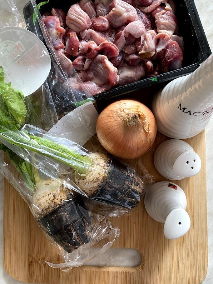 Фото рецепта - Куриные желудочки с репкой - шаг 1
