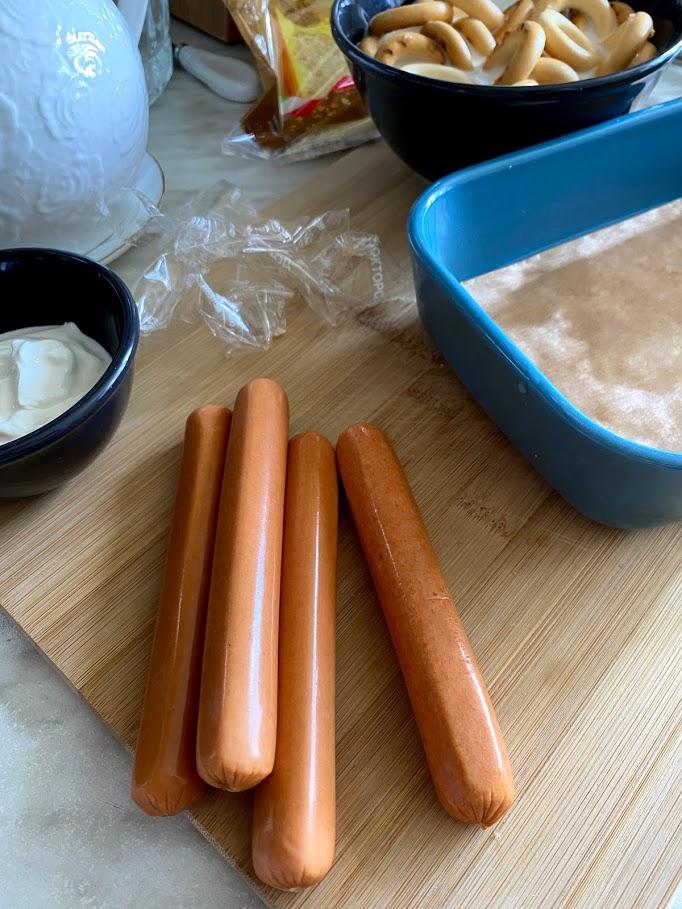 Фото рецепта - Сосиски в сушках - шаг 4