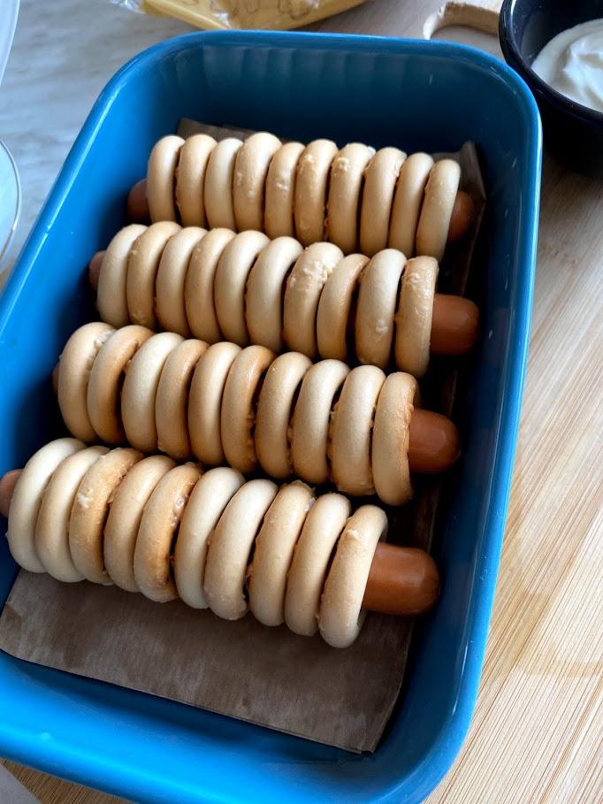 Фото рецепта - Сосиски в сушках - шаг 5
