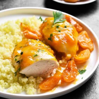 Куриные грудки в абрикосовом соусе
