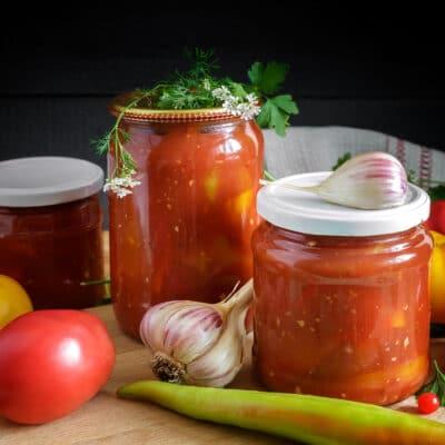 Лечо из перца и помидоров - рецепт с фото