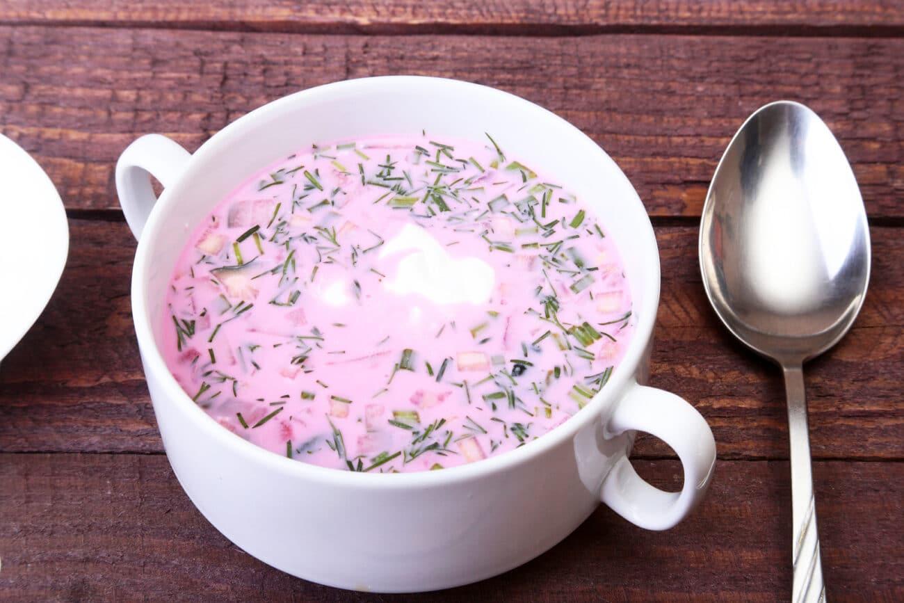 Окрошка на йогурте (без яиц)
