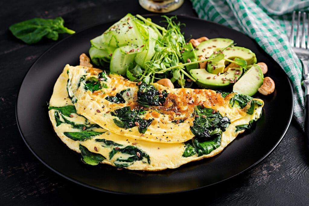 Фото рецепта - Омлет со шпинатом - шаг 7