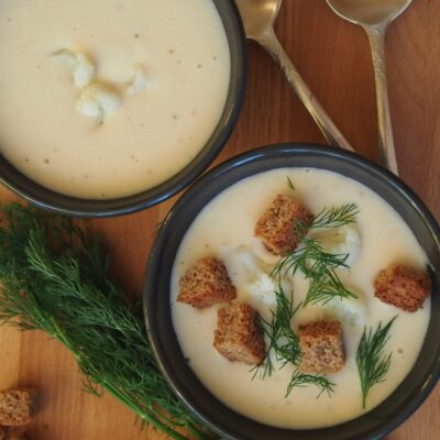 Крем-суп из цветной капусты и фасоли - рецепт с фото