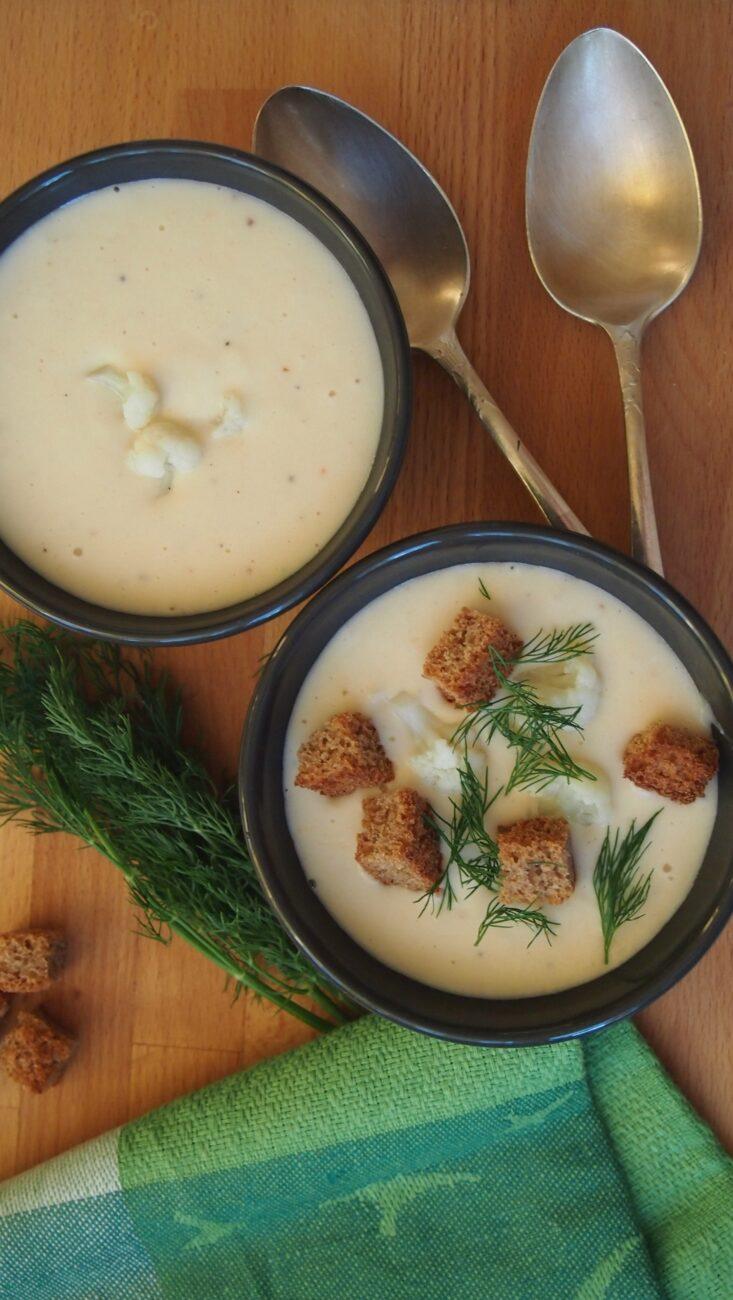 Крем-суп из цветной капусты и фасоли