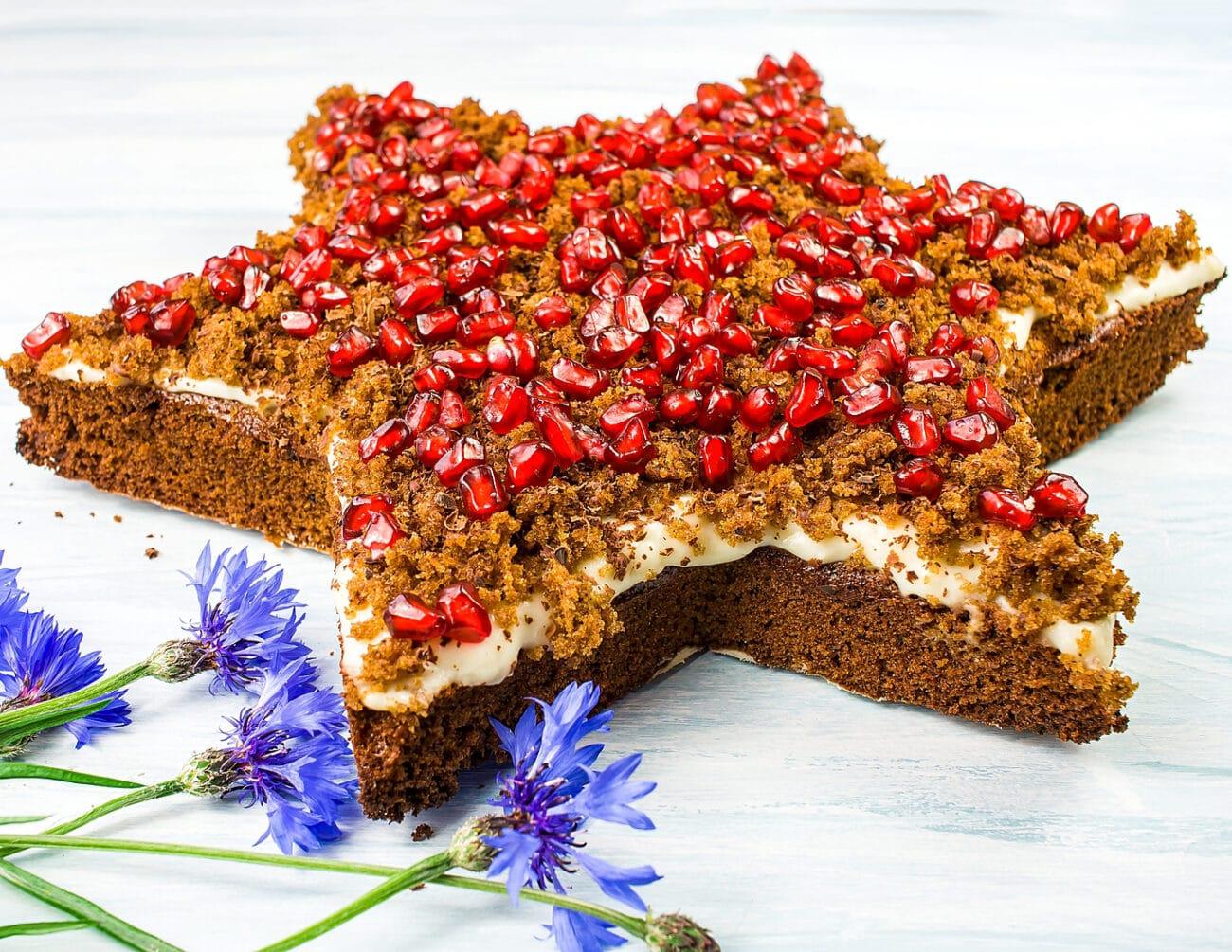 Шоколадный кекс в виде звезды