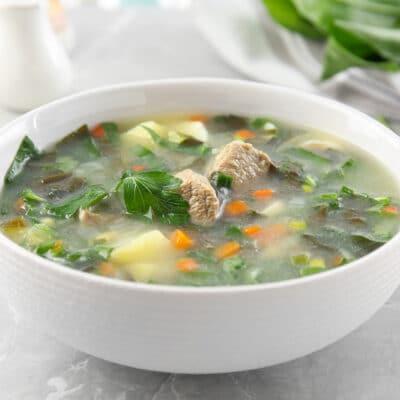 Суп из щавеля с мясом - рецепт с фото