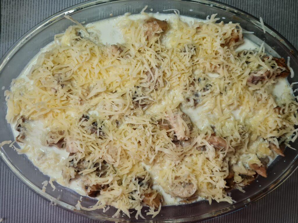 Фото рецепта - Жульен с курицей в духовке - шаг 4