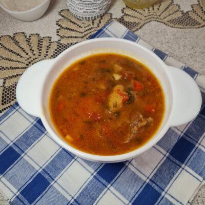 Тушёная говядина с овощами в казане - рецепт с фото