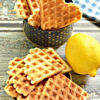Вафли с лимоном - рецепт с фото