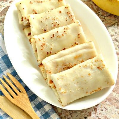 Блинчики с творожно-банановой начинкой - рецепт с фото