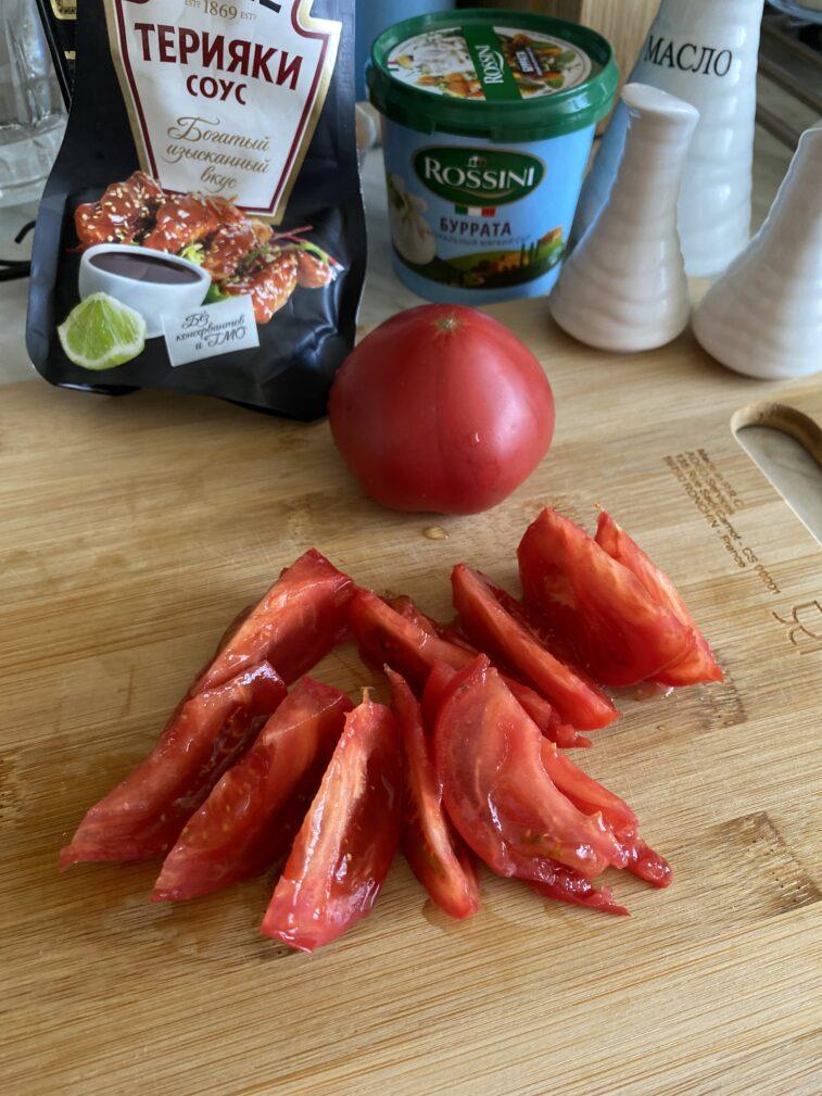 Фото рецепта - Салат с бурратой - шаг 3