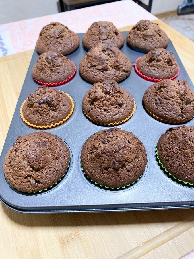 Фото рецепта - Шоколадные маффины - шаг 11