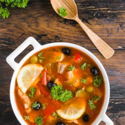 Итальянский суп из рыбы (рыбная солянка) - рецепт с фото