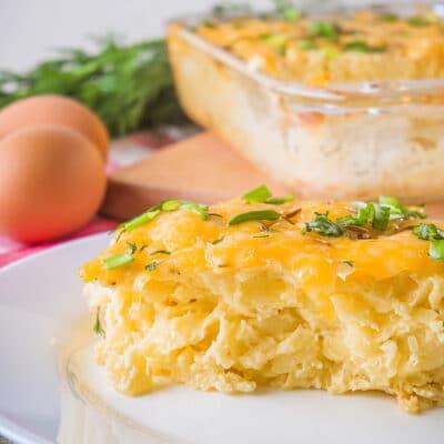 Картофельная запеканка с яйцом и сыром