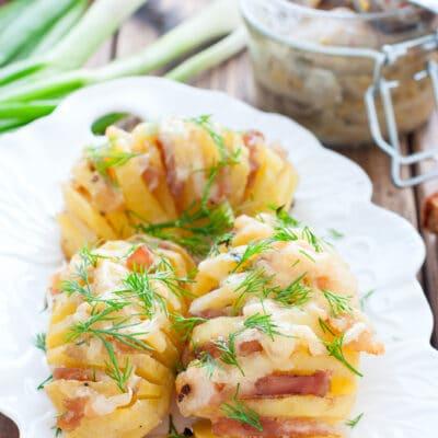 Картошка-гармошка в духовке - рецепт с фото