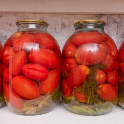 Душистые консервированные помидоры - рецепт с фото