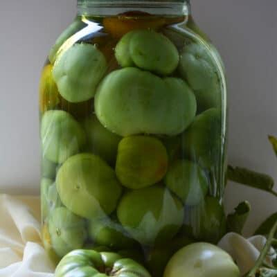 Консервированные зеленые помидоры - рецепт с фото