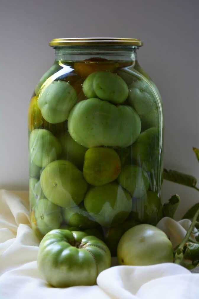 Фото рецепта - Консервированные зеленые помидоры - шаг 5