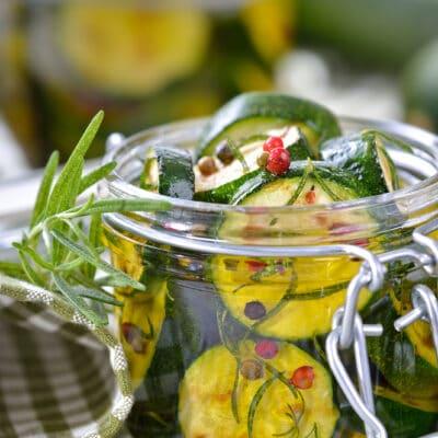 маринованные жареные цукини (зимний салат)