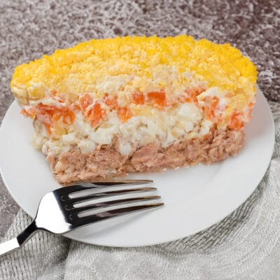 Нежный салат Мимоза