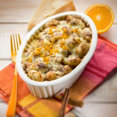 Ньокки из картофеля, в апельсиново-сырном соусе