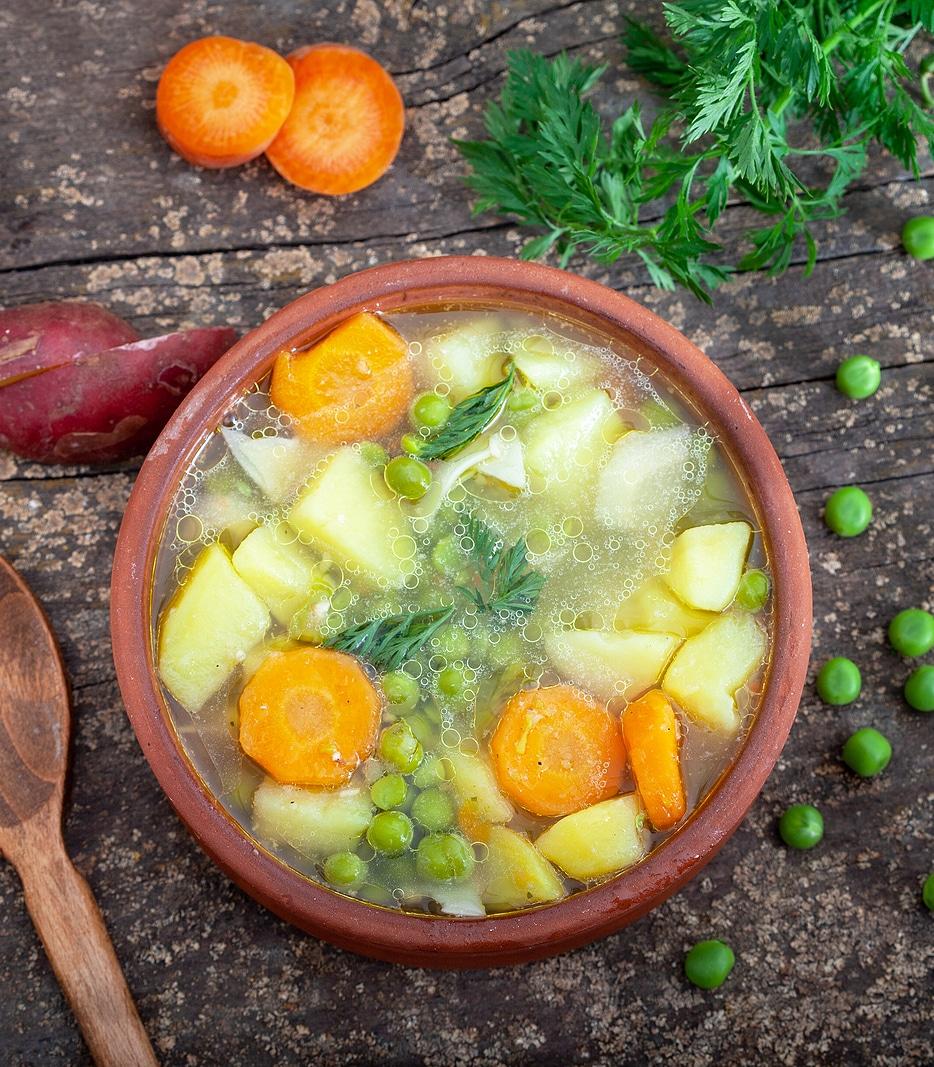 Овощной суп без зажарки