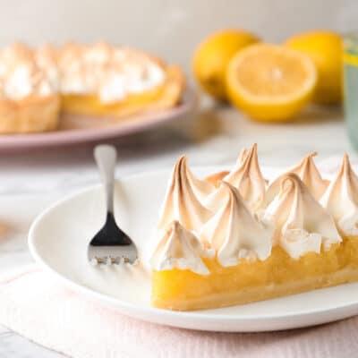 Лимонный пирог с меренгой - рецепт с фото