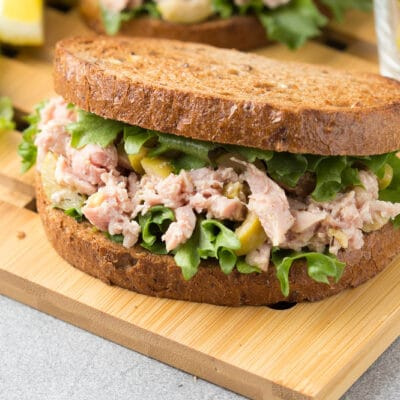 Сэндвич с тунцом и оливками