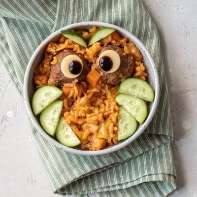 Тушеные овощи с рисом (рагу) и котлетами - рецепт с фото