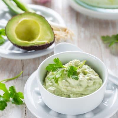 Творожная намазка с авокадо - рецепт с фото