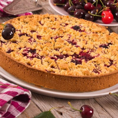 Вишневый пирог-крошка - рецепт с фото