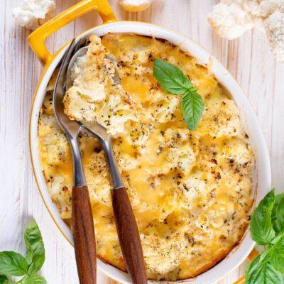 Запеканка из цветной капустой и сыром