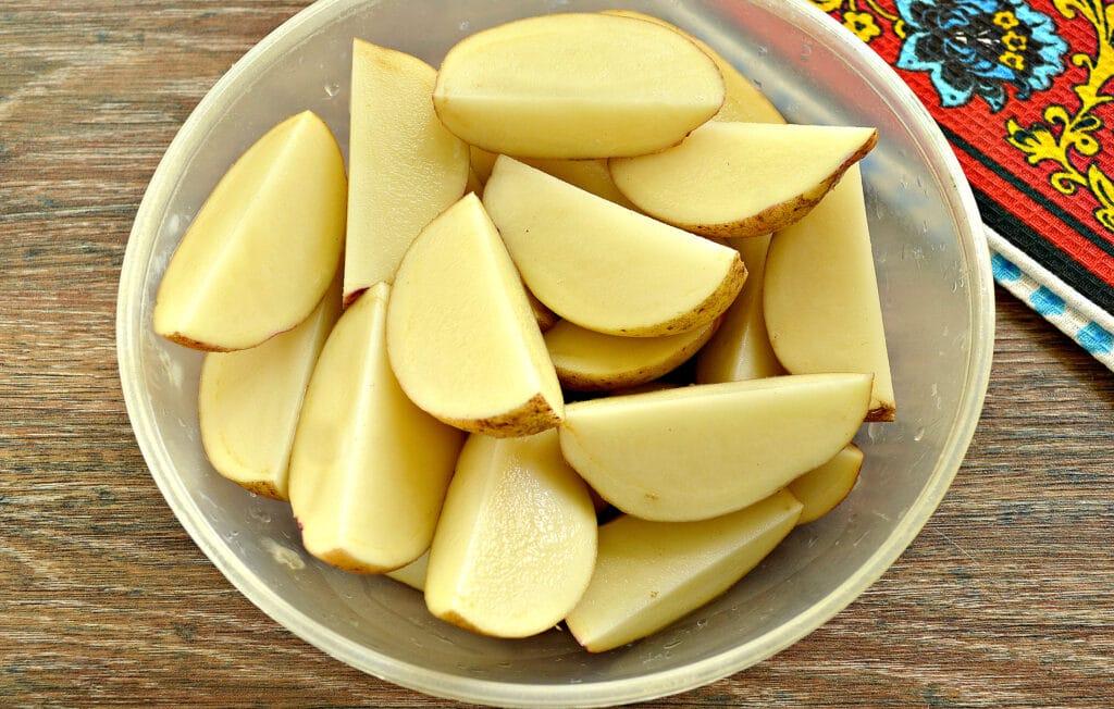 Фото рецепта - Картофель по-деревенски в сковороде гриль-газ - шаг 1