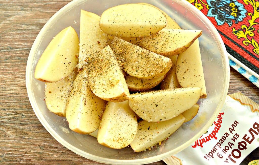 Фото рецепта - Картофель по-деревенски в сковороде гриль-газ - шаг 2