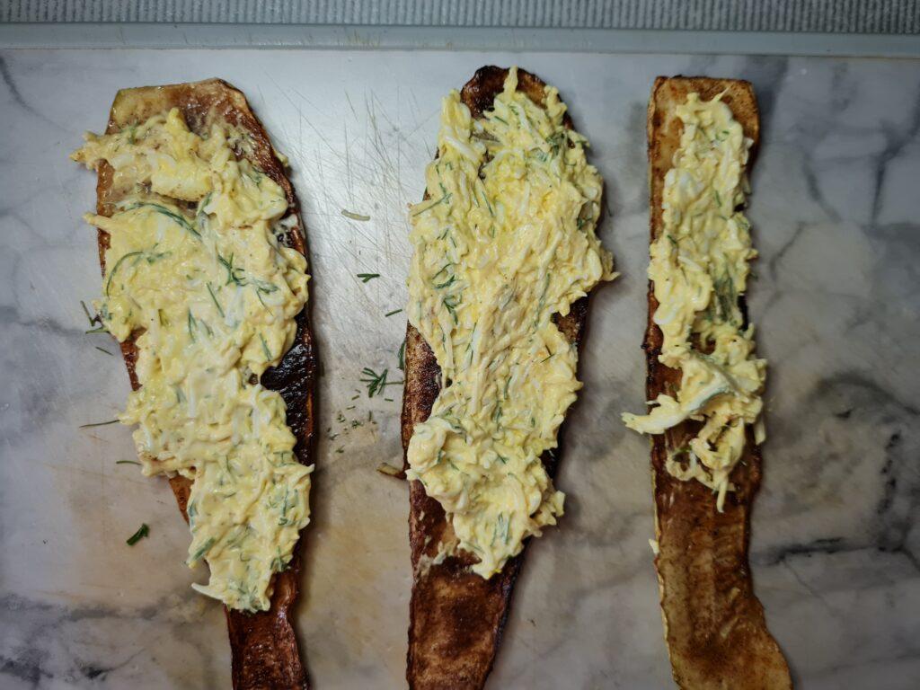 Фото рецепта - Кабачковые роллы с сырной начинкой - шаг 6