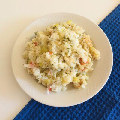 Тушёные кабачки с рисом на сковороде - рецепт с фото