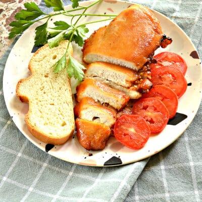 Куриная грудка в медово-горчичном маринаде в духовке - рецепт с фото