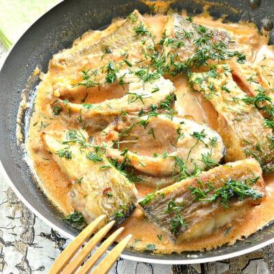 Рыба в томатно-сметанном соусе на сковороде - рецепт с фото