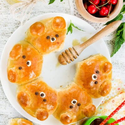 Дрожжевые булочки с мёдом - рецепт с фото