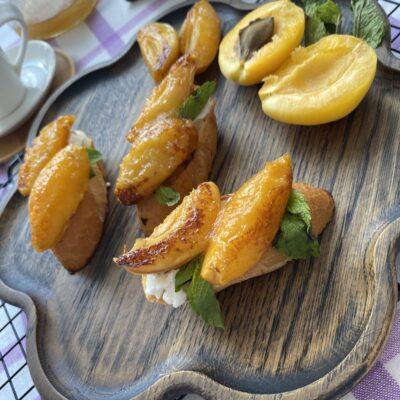 Брускетта с абрикосами - рецепт с фото