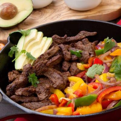 Фахитос их говядины с овощами