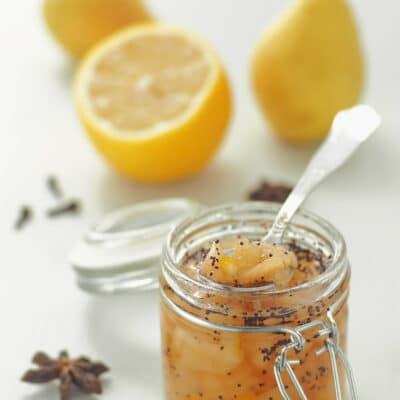 Грушевое варенье с лимоном и маком