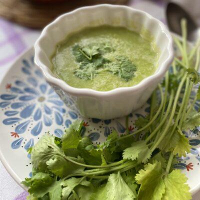 Суп-пюре из зелёного горошка - рецепт с фото