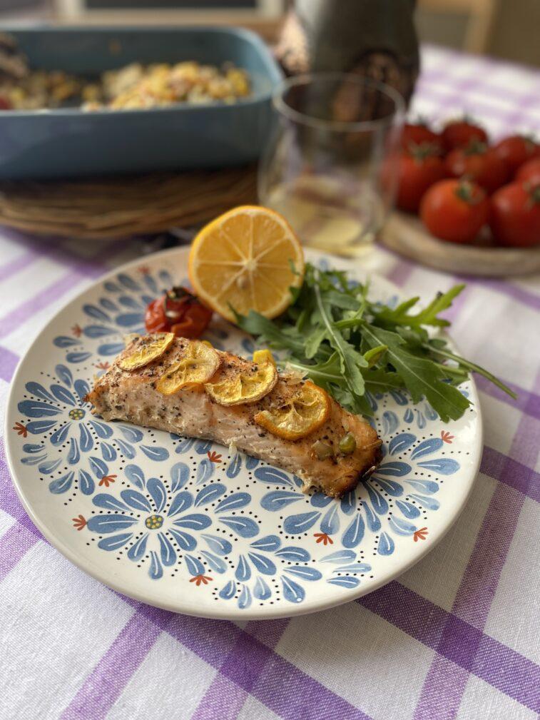 Фото рецепта - Филе семги с овощами - шаг 4