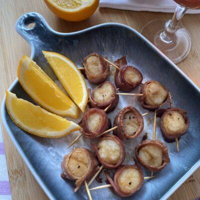 Запеченные морские гребешки — оригинальная закуска - рецепт с фото