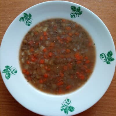 Постный суп из чечевицы - рецепт с фото